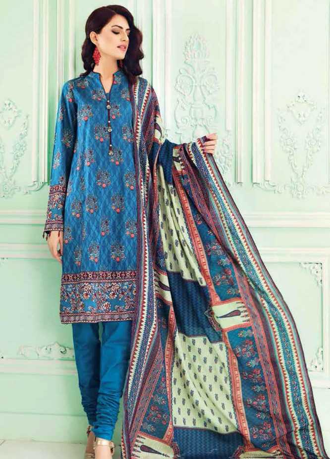 Gul Ahmed Embroidered Lawn Suits Unstitched 3 Piece GA21BL CL946 - Summer Collection