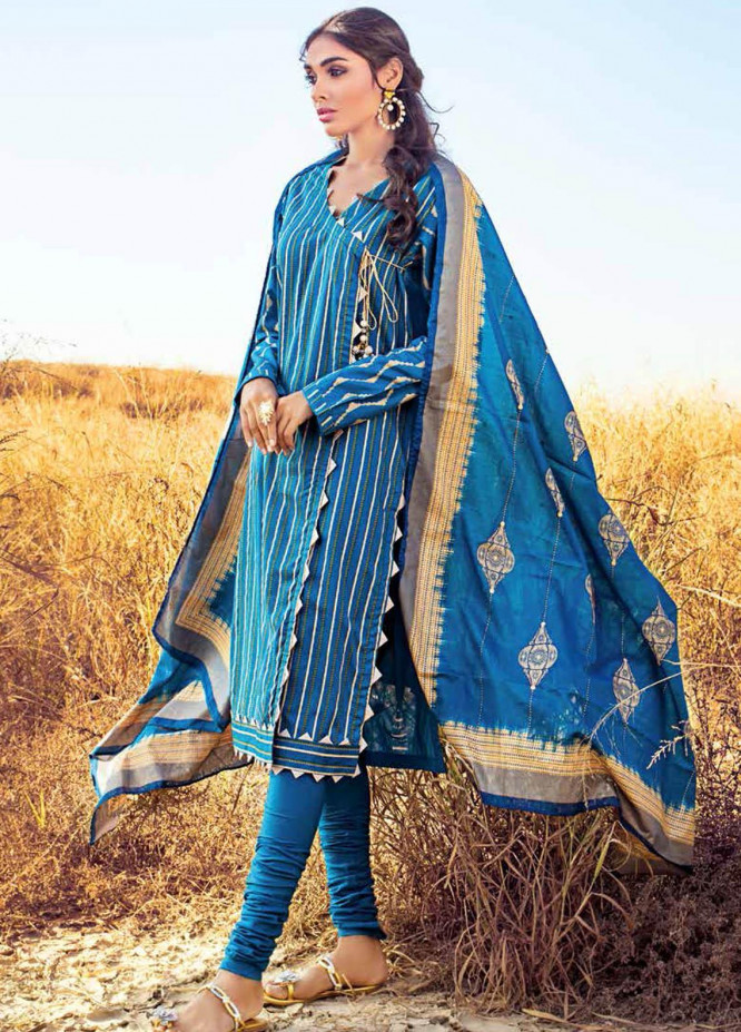 Gul Ahmed Printed Lawn Suits Unstitched 3 Piece GA21BL FS11 - Summer Collection