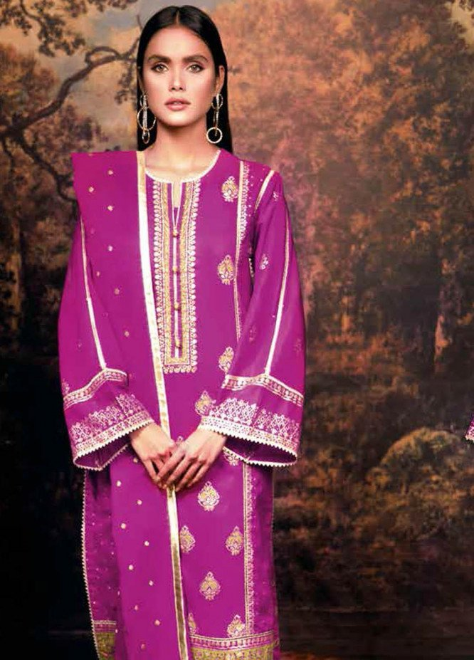 Gul Ahmed Embroidered Lawn Suits Unstitched 3 Piece GA21BL SP22 - Summer Collection