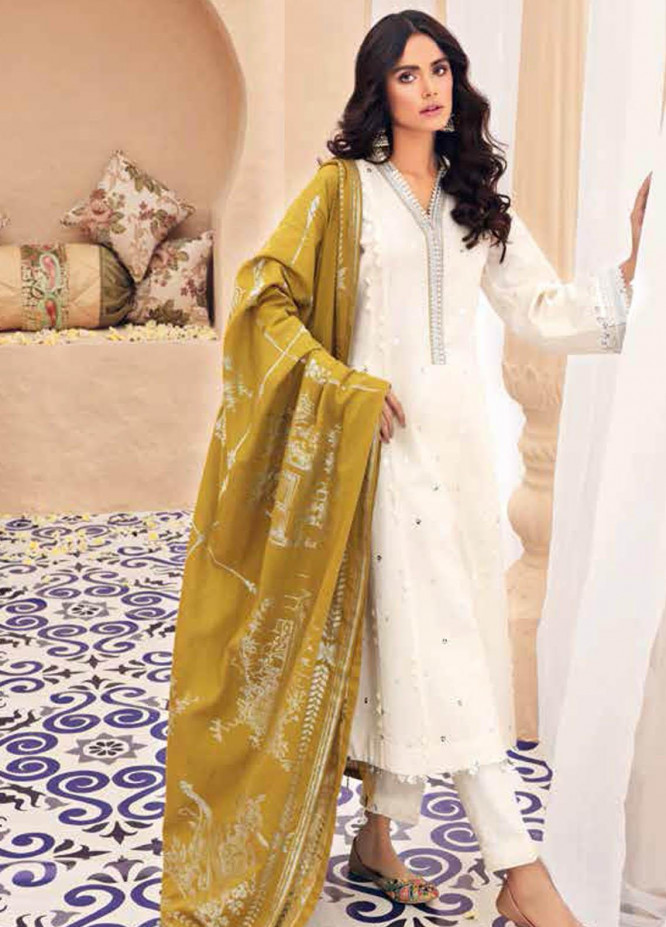 Gul Ahmed Embroidered Lawn Suits Unstitched 3 Piece GA21BL SP59 - Summer Collection