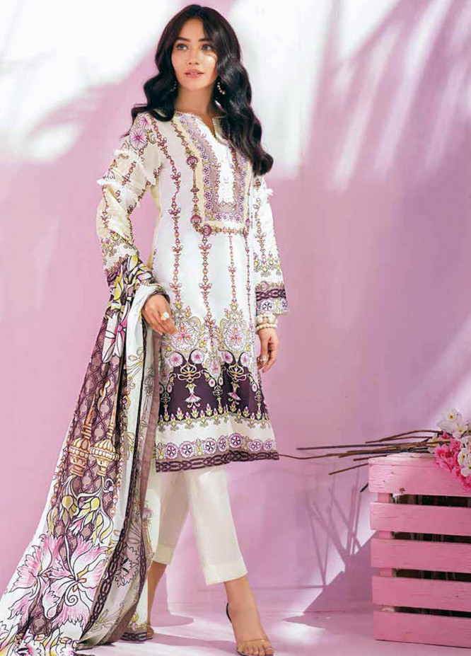 Gul Ahmed Printed Lawn Suits Unstitched 2 Piece GA21BL TL336B - Summer Collection