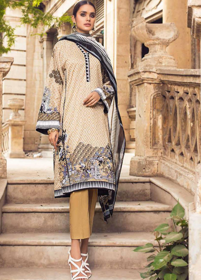 Black & White By Gul Ahmed Printed Lawn Suits Unstitched 2 Piece GA21BW BT12003 - Black & White Collection