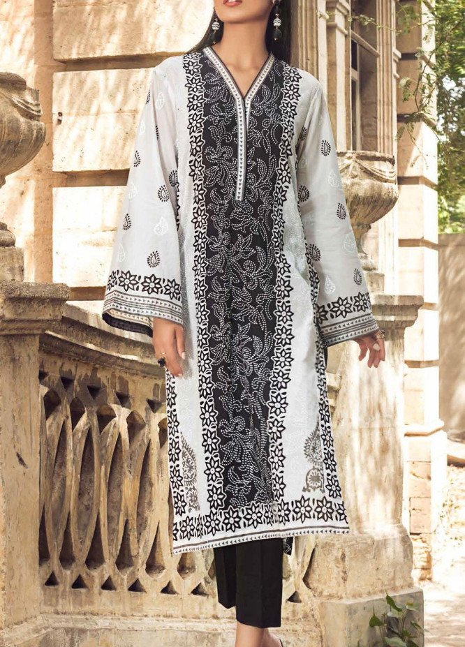 Black & White By Gul Ahmed Printed Lawn Suits Unstitched 2 Piece GA21BW BT12005 - Black & White Collection