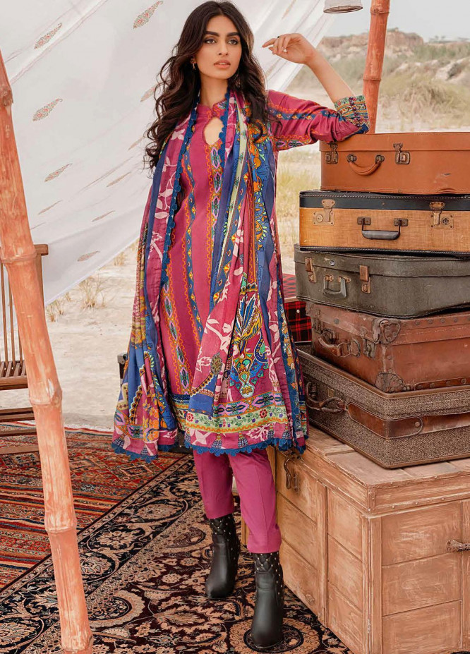 Gul Ahmed Printed Corduroy Suits Unstitched 3 Piece GA21WK CD-12008B - Winter Collection