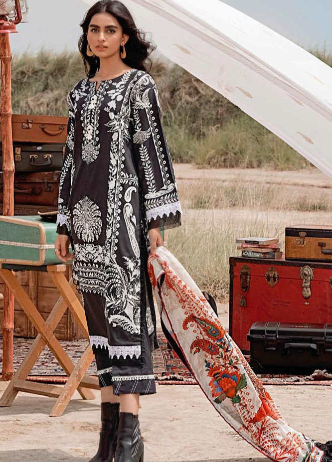 Gul Ahmed Printed Corduroy Suits Unstitched 3 Piece GA21WK CD-12009B - Winter Collection
