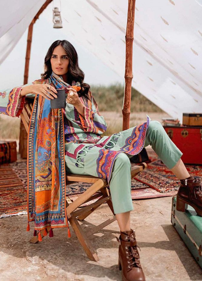 Gul Ahmed Printed Corduroy Suits Unstitched 3 Piece GA21WK CD-12013A - Winter Collection