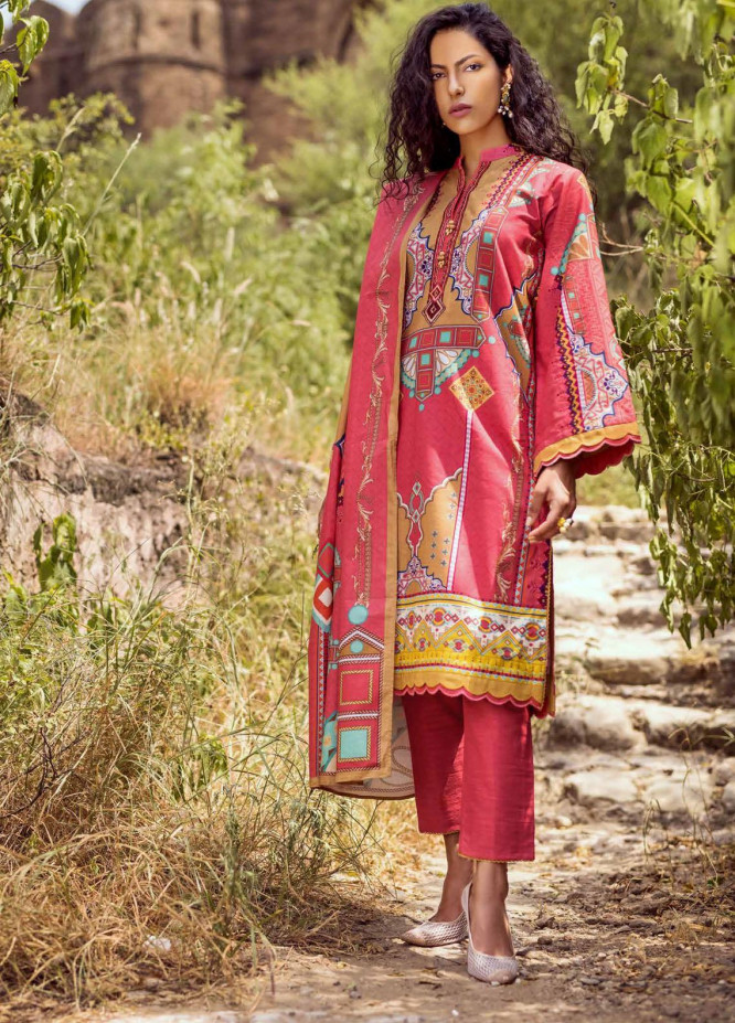 Gul Ahmed Embroidered Khaddar Suits Unstitched 3 Piece GA21WK K-12024 - Winter Collection