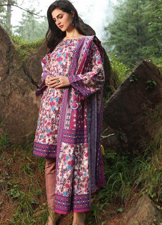 Gul Ahmed Printed Khaddar Suits Unstitched 2 Piece GA21WK TK-12012B - Winter Collection