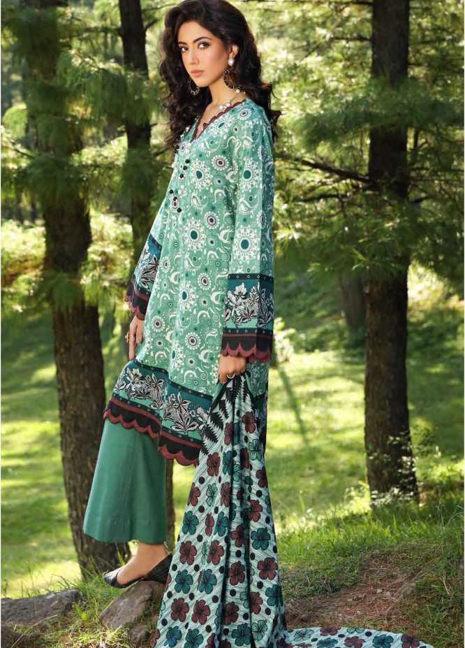 Gul Ahmed Printed Khaddar Suits Unstitched 2 Piece GA21WK TK-12013A - Winter Collection