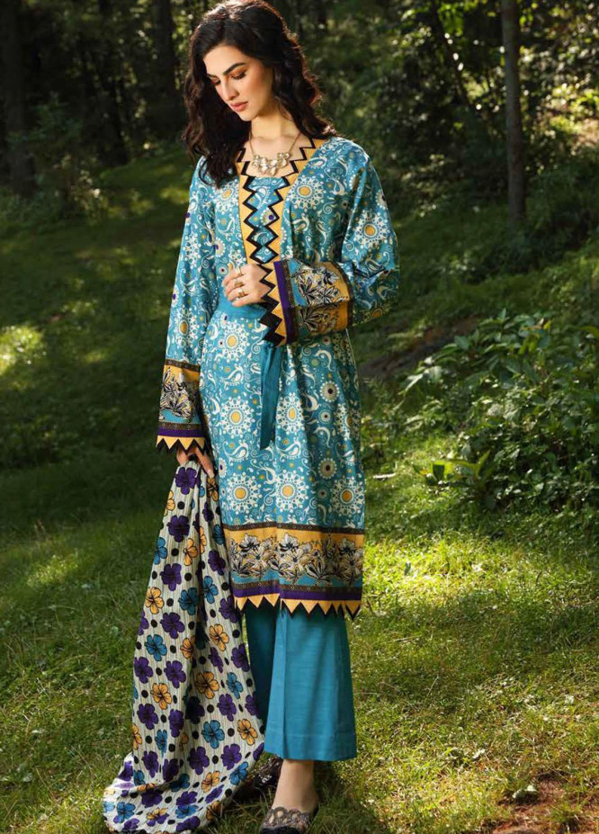 Gul Ahmed Printed Khaddar Suits Unstitched 2 Piece GA21WK TK-12013B - Winter Collection