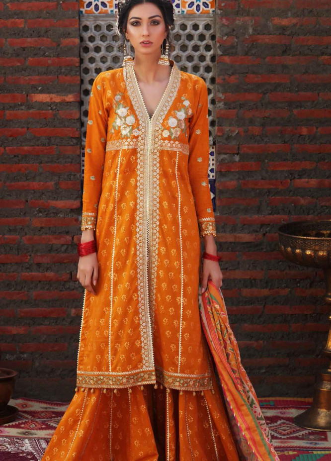 Gul Ahmed Embroidered Lawn Suits Unstitched 3 Piece GA21FE SP-21 - Festive Collection
