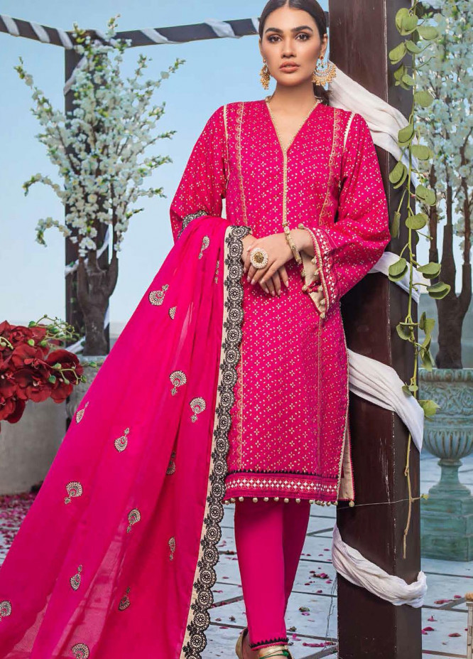 Gul Ahmed Embroidered Lawn Suits Unstitched 3 Piece GA21FL 12230 Mastani - Luxury Festive Collection