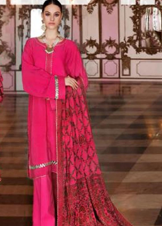 Gul Ahmed Embroidered Jacquard Unstitched 3 Piece Suit GA20GL FE-271 A - Winter Collection