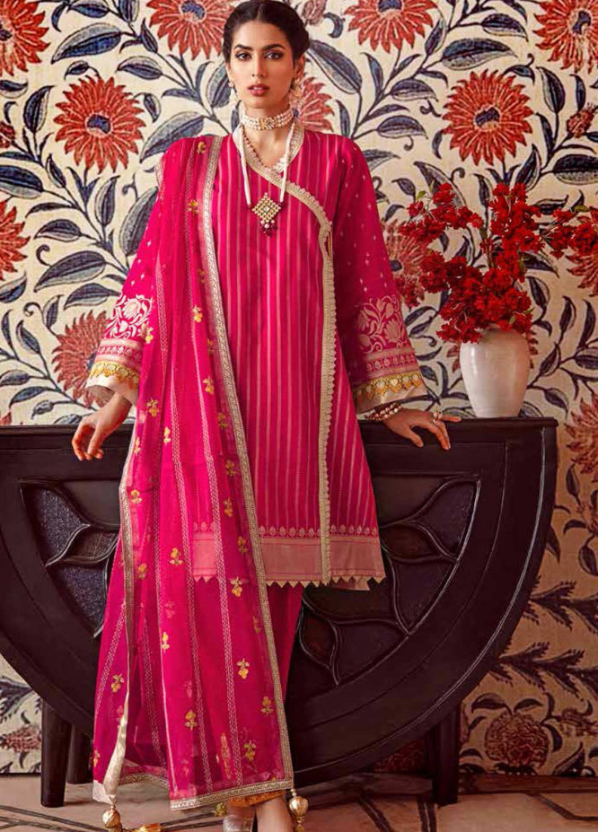 Gul Ahmed Embroidered Jacquard Unstitched 3 Piece Suit GA20GL FE-276 - Winter Collection
