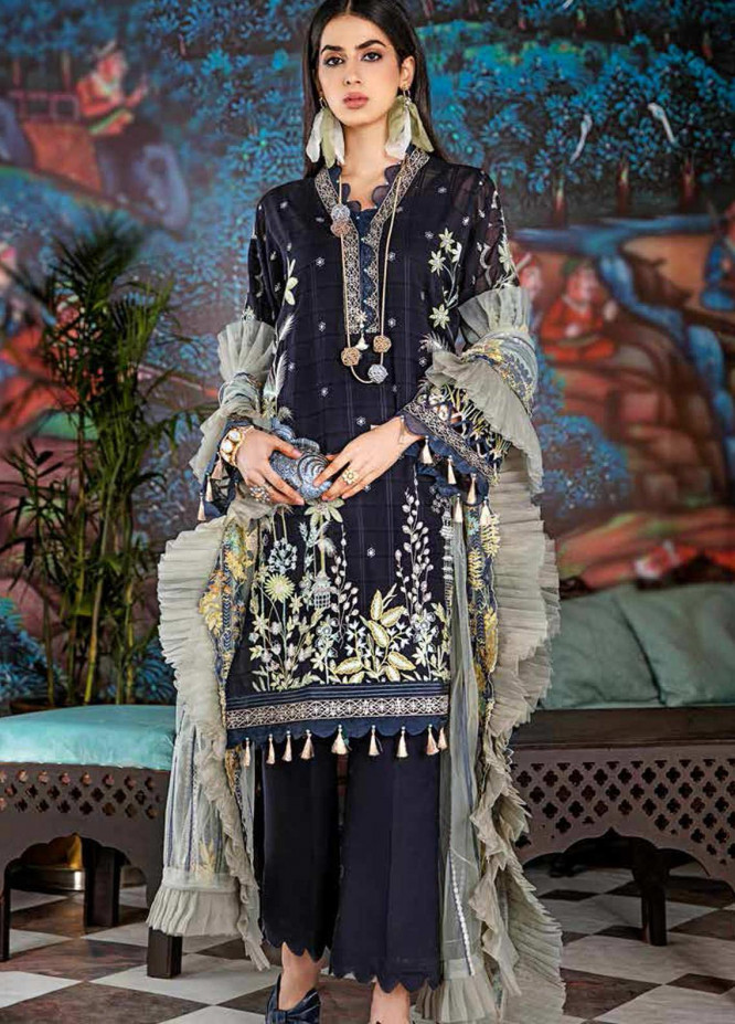 Gul Ahmed Embroidered Swiss Voile Unstitched 3 Piece Suit GA20GL FE-335 - Winter Collection