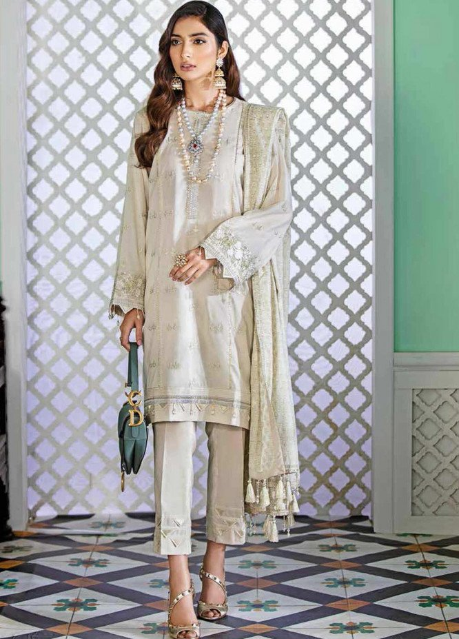Gul Ahmed Embroidered Organza Unstitched 3 Piece Suit GA20GL FE-348 - Winter Collection