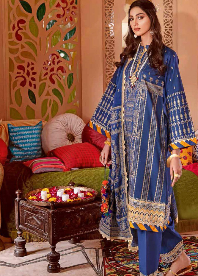 Gul Ahmed Embroidered Jacquard Unstitched 3 Piece Suit GA20GL FE-351 - Winter Collection