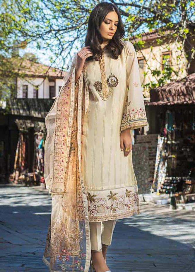 Gul Ahmed Embroidered Cotton Unstitched 3 Piece Suit GAG19F EA-72 - Festive Collection