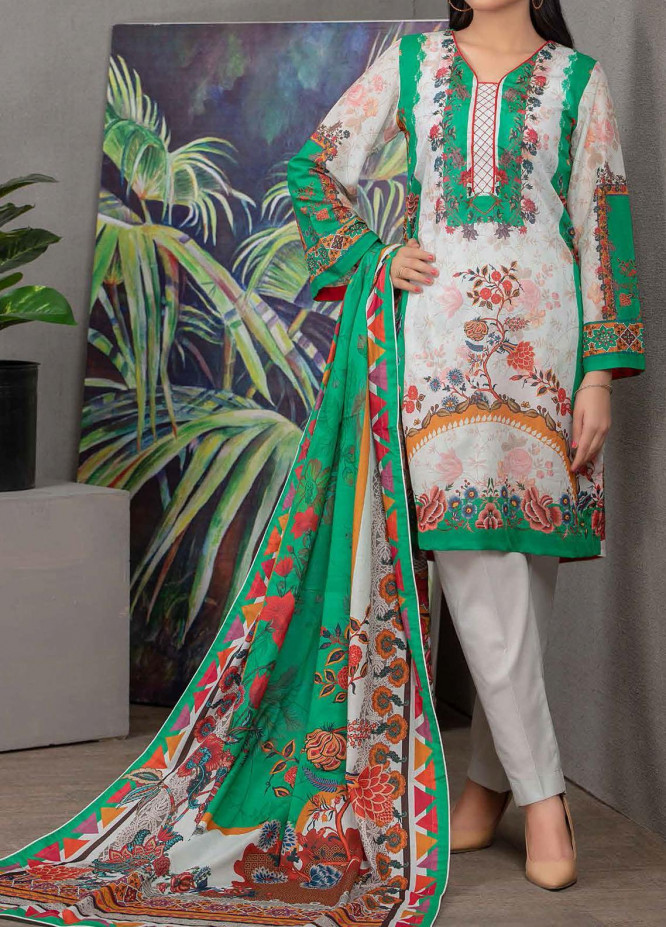 Malmal By Gul Ahmed Embroidered Lawn Suits Unstitched 3 Piece GA21-ML2 106A - Summer Collection