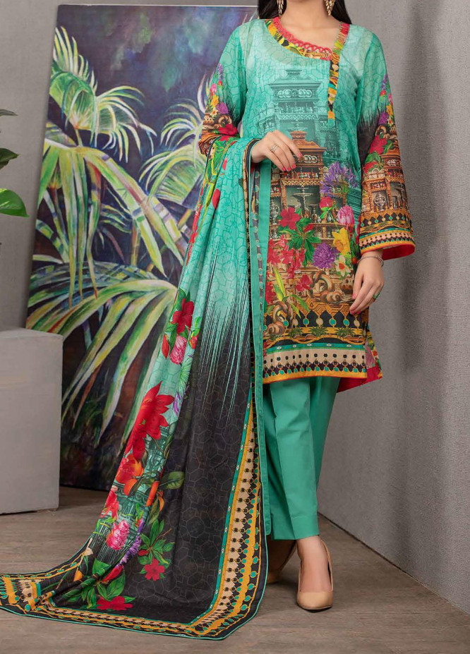 Malmal By Gul Ahmed Embroidered Lawn Suits Unstitched 3 Piece GA21-ML2 111B - Summer Collection