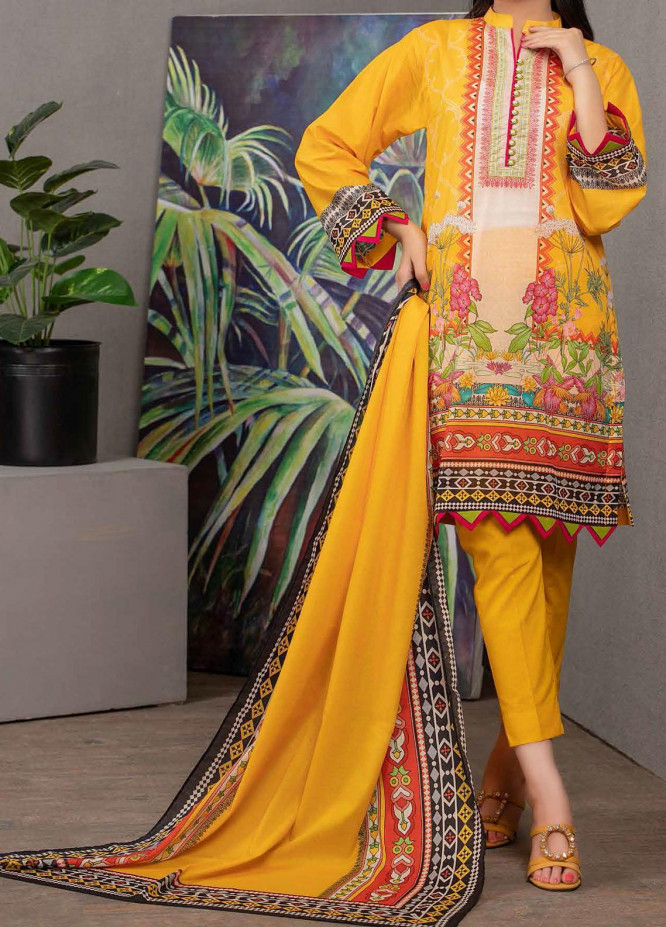 Malmal By Gul Ahmed Embroidered Lawn Suits Unstitched 3 Piece GA21-ML2 115B - Summer Collection