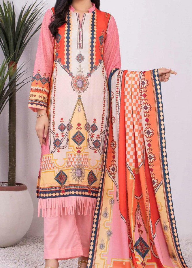 Malmal By Gul Ahmed Embroidered Lawn Suits Unstitched 3 Piece GA21-ML2 116B - Summer Collection