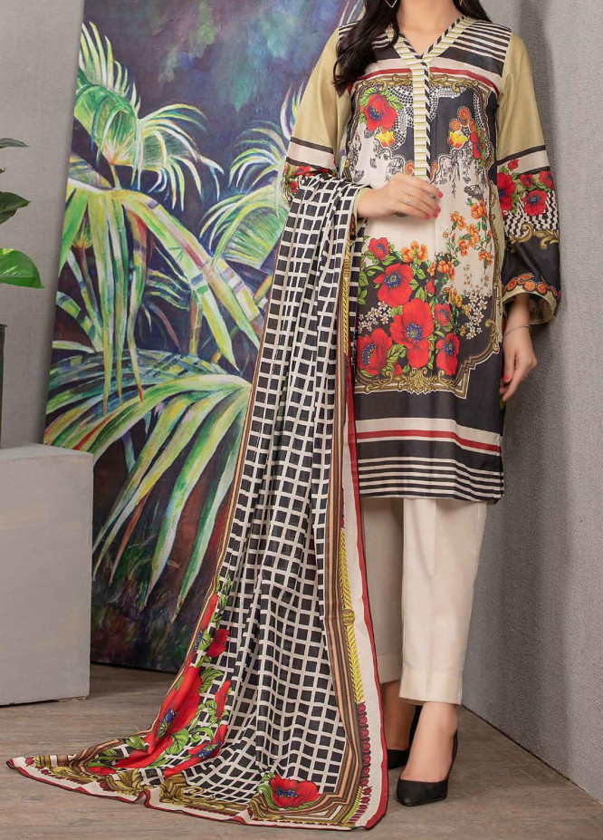 Malmal By Gul Ahmed Embroidered Lawn Suits Unstitched 3 Piece GA21-ML2 118A - Summer Collection