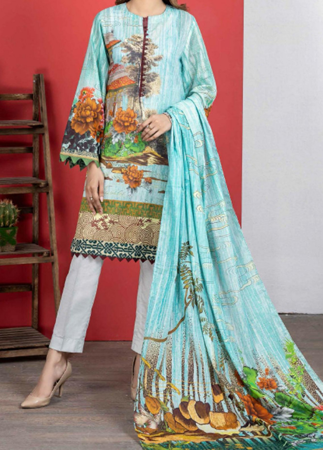 Malmal By Gul Ahmed Embroidered Lawn Suits Unstitched 3 Piece GA21-ML2 119A - Summer Collection