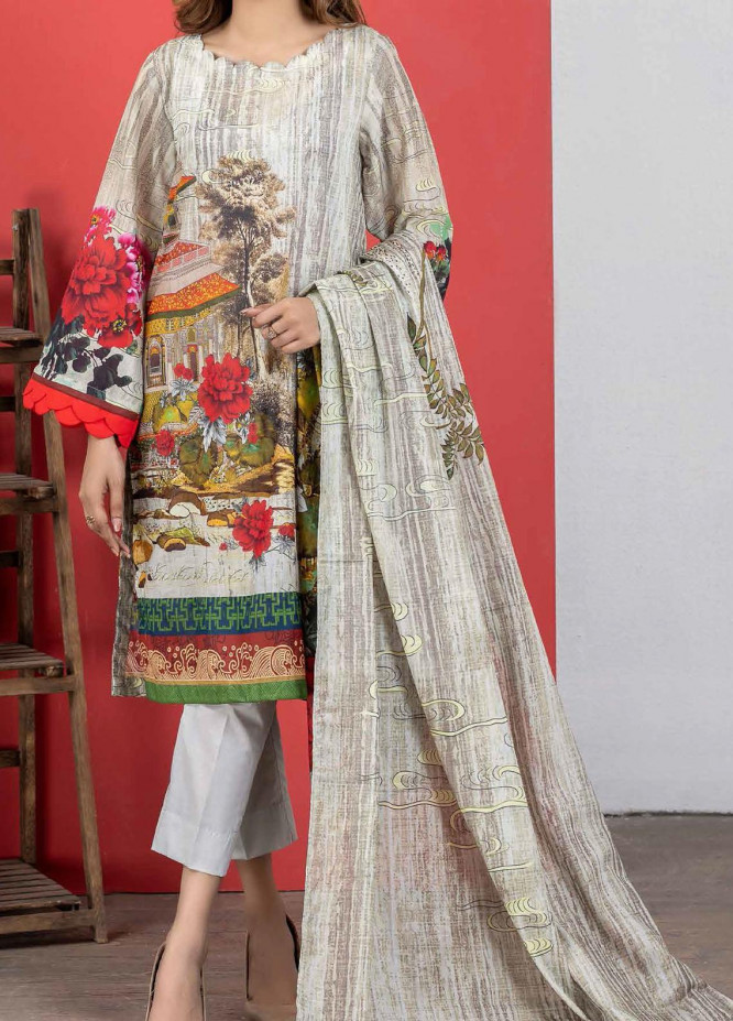 Malmal By Gul Ahmed Embroidered Lawn Suits Unstitched 3 Piece GA21-ML2 119B - Summer Collection