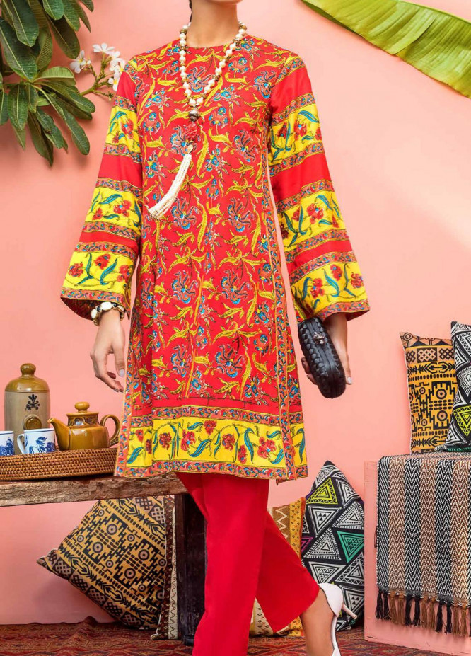 Gul Ahmed Printed Cambric Unstitched Kurties GA20CM SCN-132 B - Summer Collection