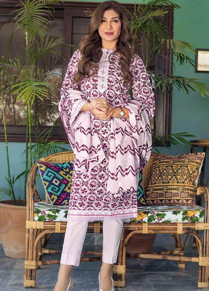 Gul Ahmed Printed Lawn Suits Unstitched 3 Piece GA21M CL-1103 B - Summer Collection
