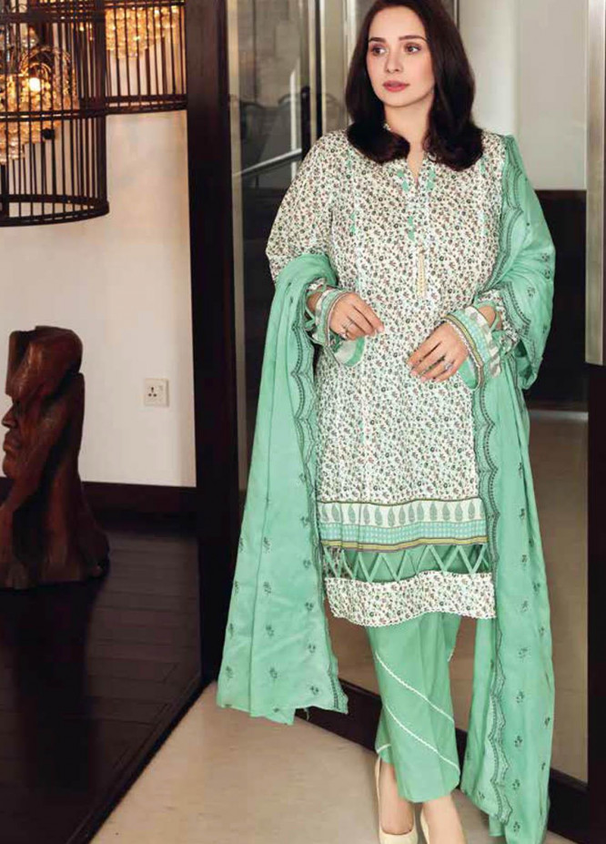 Gul Ahmed Embroidered Lawn Suits Unstitched 3 Piece GA21M CL-1277 - Summer Collection