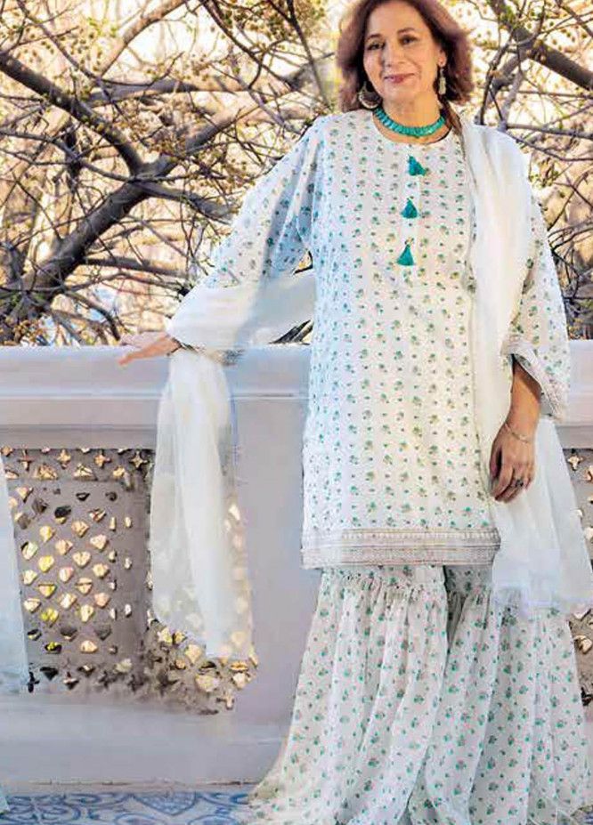 Gul Ahmed Printed Lawn  Unstitched Kurties GA21M SL-900 A - Summer Collection