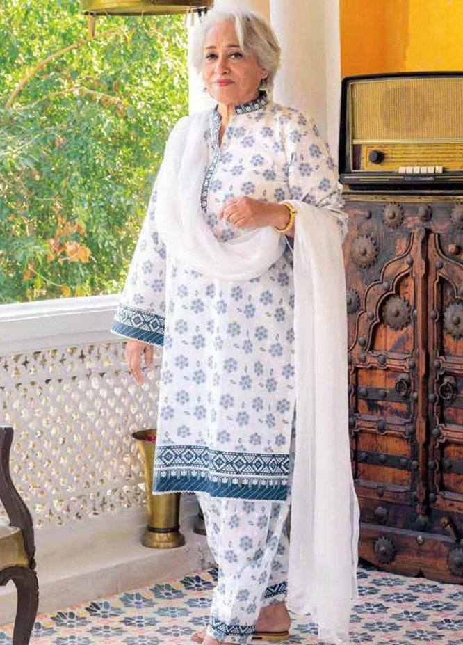 Gul Ahmed Printed Lawn  Unstitched Kurties GA21M SL-905 A - Summer Collection