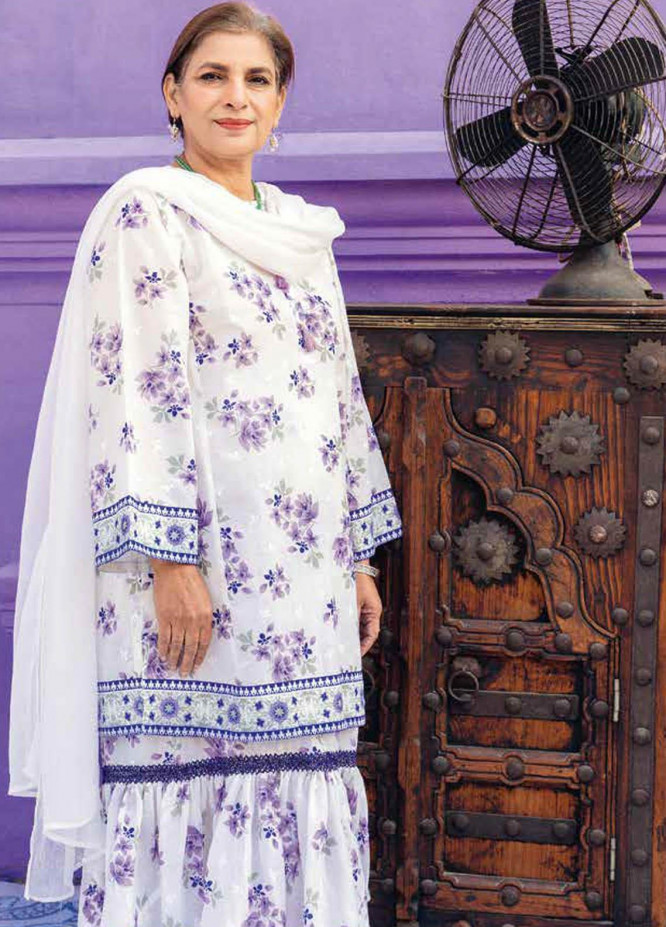 Gul Ahmed Printed Lawn  Unstitched Kurties GA21M SL-906 A - Summer Collection
