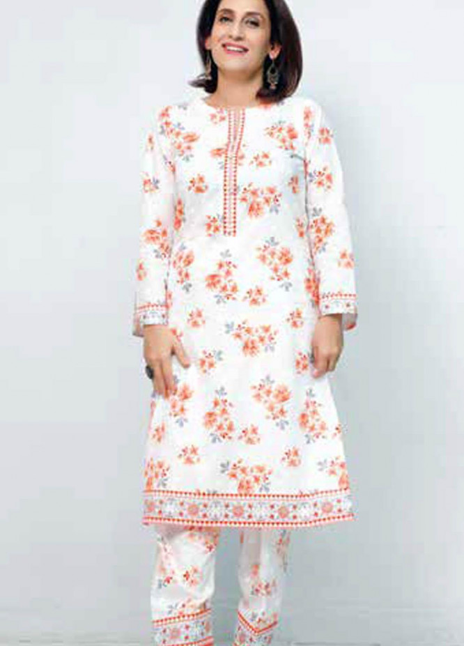 Gul Ahmed Printed Lawn  Unstitched Kurties GA21M SL-906 B - Summer Collection