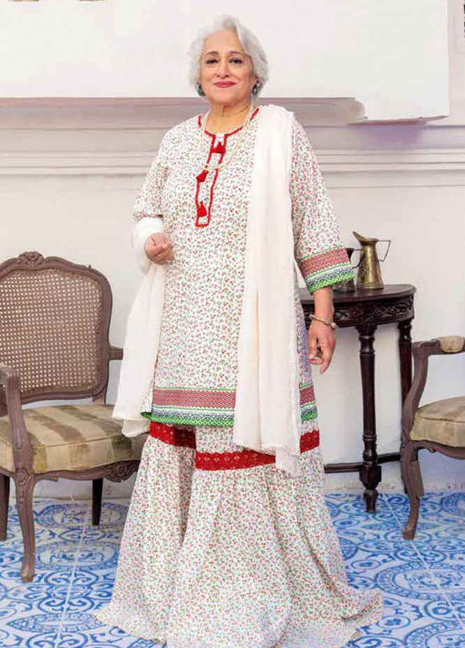 Gul Ahmed Printed Lawn  Unstitched Kurties GA21M SL-908 A - Summer Collection