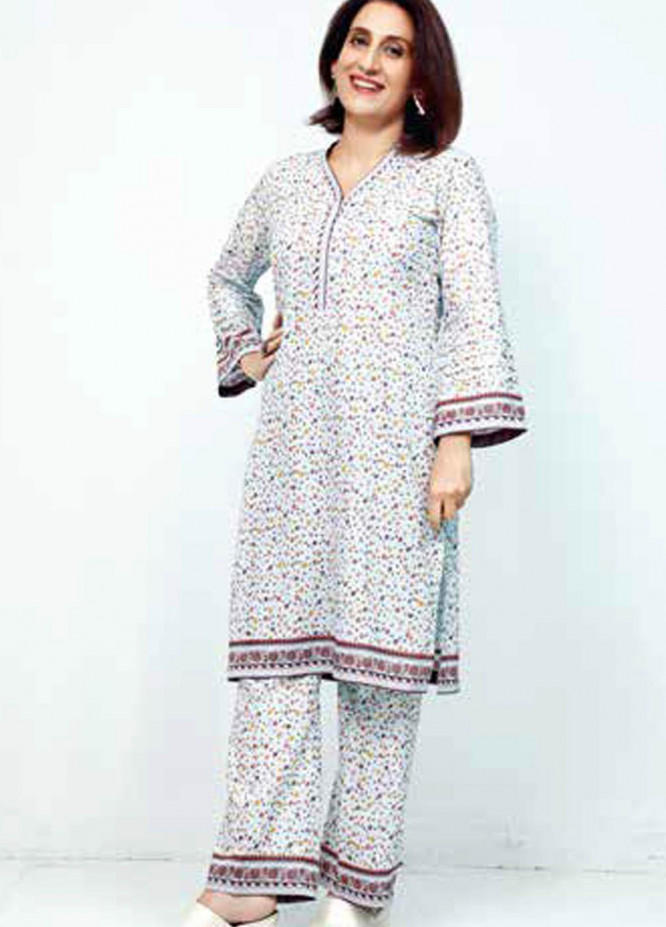 Gul Ahmed Printed Lawn  Unstitched Kurties GA21M SL-909 B - Summer Collection