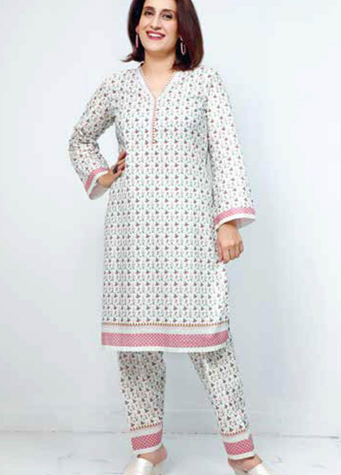 Gul Ahmed Printed Lawn  Unstitched Kurties GA21M SL-910 B - Summer Collection