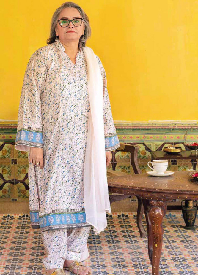 Gul Ahmed Printed Lawn  Unstitched Kurties GA21M SL-913 A - Summer Collection
