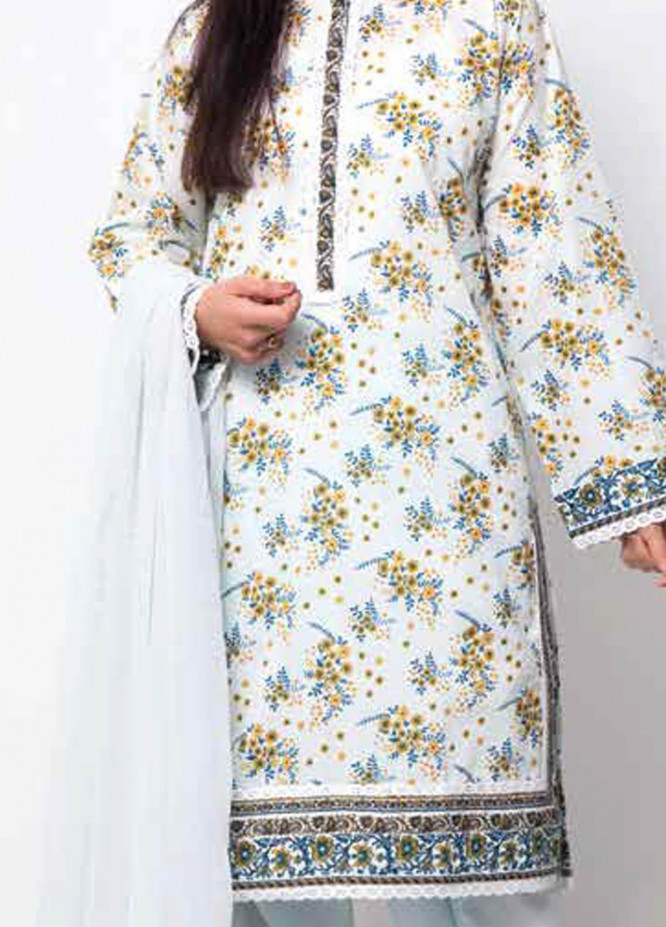 Gul Ahmed Printed Lawn  Unstitched Kurties GA21M SL-915 A - Summer Collection