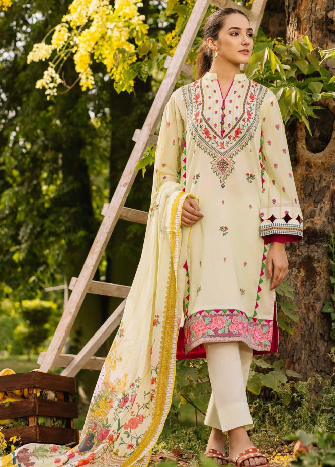 Gul Ahmed Embroidered Cambric Suits Unstitched 3 Piece GA21PF CBE12002 - Winter Collection