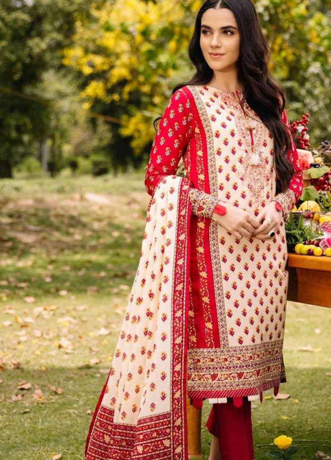 Gul Ahmed Embroidered Cambric Suits Unstitched 2 Piece GA21PF TCE12007 - Winter Collection