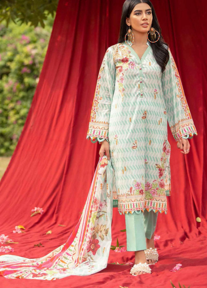 Gul Ahmed Printed Cambric Suits Unstitched 2 Piece GA21PF TCN12009A - Winter Collection