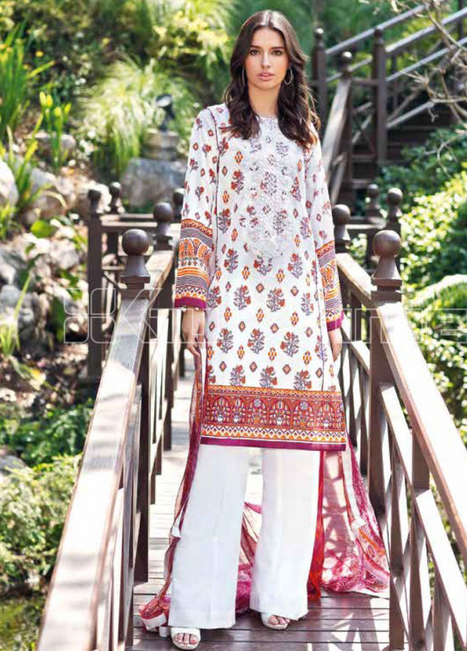 Gul Ahmed Embroidered Jacquard Unstitched 3 Piece Suit GA20PL AS-19 - Spring / Summer Collection