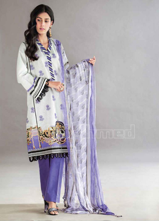 Gul Ahmed Embroidered Jacquard Unstitched 3 Piece Suit GA20PL BCT-25 - Spring / Summer Collection