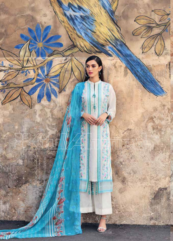 Gul Ahmed Embroidered Jacquard Unstitched 3 Piece Suit GA20PL CT-260 - Spring / Summer Collection