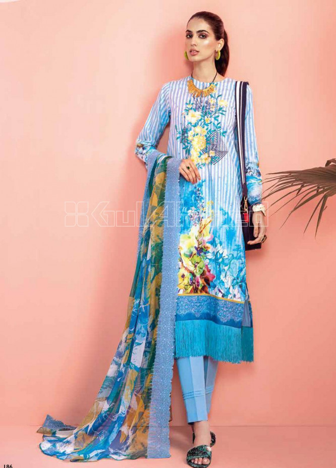Gul Ahmed Embroidered Jacquard Unstitched 3 Piece Suit GA20PL CT-262 - Spring / Summer Collection