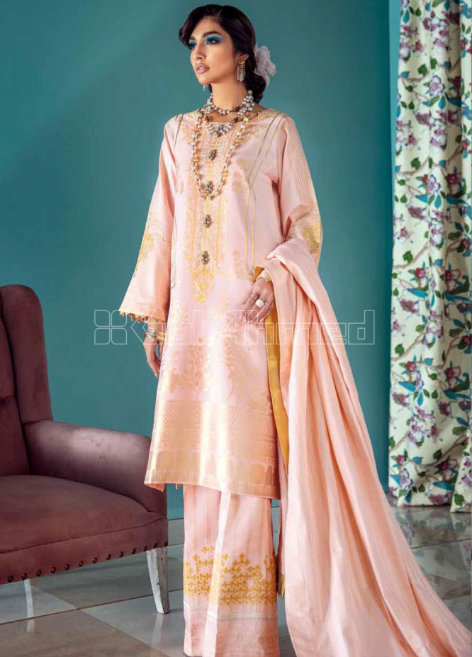 Gul Ahmed Embroidered Jacquard Unstitched 3 Piece Suit GA20PL LE-19 - Spring / Summer Collection