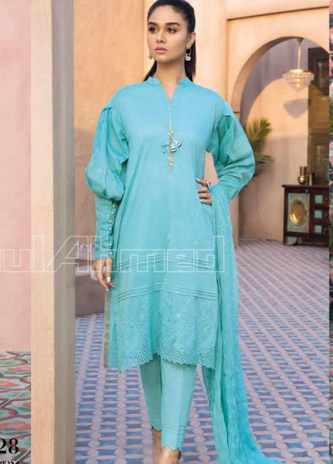Gul Ahmed Embroidered Cotton Silk Unstitched 3 Piece Suit GA20PL PM-328 - Spring / Summer Collection